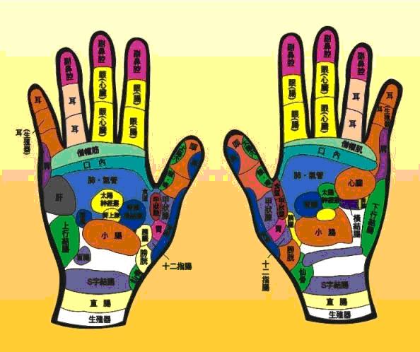 雙手穴位圖