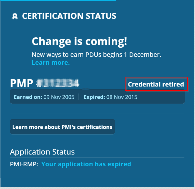 PMP-retired