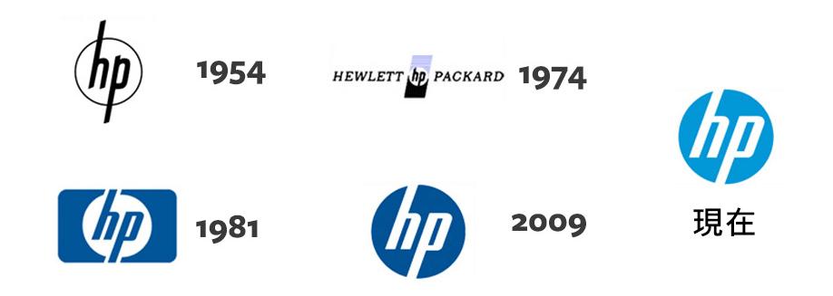 HP logo 演進